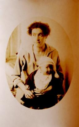 old fashoned photo frazzled mom