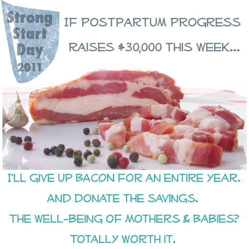 Bacon Sacrifice Campaign for Postpartum Progress