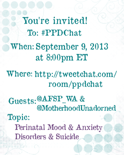 PPDChat AFSPWA and MotherhoodUnadorned Guest Announcement